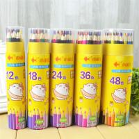 小鱼儿 3100彩色铅笔大中小学生男女生儿童幼儿学习办公美术涂色绘画文具用品桶装绘画笔秘密花园彩铅笔48色当当自营