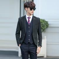 男士西服套装男修身商务职业正装结婚礼服黑色西装春秋季单西外套