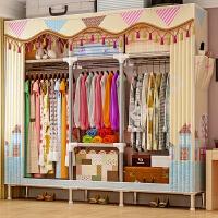 索尔诺简易衣柜钢管加粗加固布衣柜布艺简约现代经济型组装衣橱收纳柜子2564