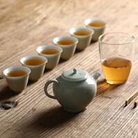 家用功夫茶具套装整套白瓷茶器组合新年茶具随手礼盒