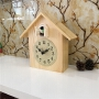 客厅布谷鸟挂钟实木复古台钟简约创意摆钟儿童咕咕钟智能报时座钟