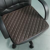 老板椅垫子办公室坐垫电脑椅子垫子沙发垫网吧座椅垫防水皮革坐垫