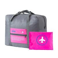 大容量旅行包手提装衣服的包男行礼包帆布单肩行李袋女行旅包超大 玫红色 飞机包 大
