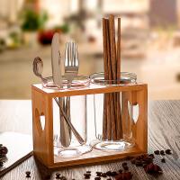 家用简约筷子筒勺子筷笼厨房沥水筷子桶竹木筷子架餐具收纳架筷筒