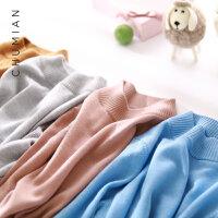 初棉毛衣女2018新款打底冬半高领羊毛衫修身长袖羊毛针织衫打底衫