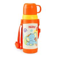 Nuby努比儿童宝宝保温喝水杯 不锈钢真空保温饮水杯训练杯 带背带