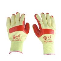贴胶浸胶涂胶片手套劳保用品高弹性耐磨细纱线 L