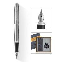 PARKER 派克 2016都市金属银白夹墨水笔+17款墨水礼盒