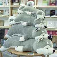 哈士奇公仔趴趴狗毛绒玩具玩偶可爱大号熊娃娃睡觉抱枕礼物送女友