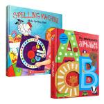 宝宝大开本字母单词启蒙书2册 英文原版My Awesome Alphabet儿童字母书 Spelling Machin