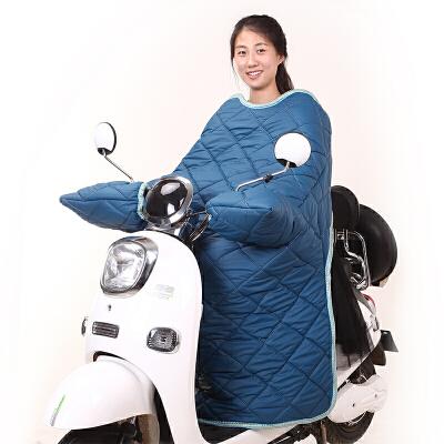 电动车挡风被冬季 电瓶车电摩加厚护膝护腰连体分体防水加绒保暖