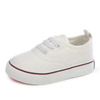 帆布鞋男童一脚蹬懒人鞋女童新款小白鞋宝宝布鞋儿童板鞋