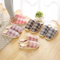 冬天棉拖鞋女室内厚底防滑冬季情侣家居家用保暖月子鞋可爱毛拖男