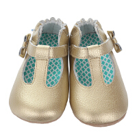 保��^�l�/美��直�] Robeez MINI SHOEZ GlaMour Grace 女童�底�W步鞋公主鞋 金色 海外