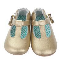 保税区发货/美国直邮 Robeez MINI SHOEZ GlaMour Grace 女童软底学步鞋公主鞋 金色 海外