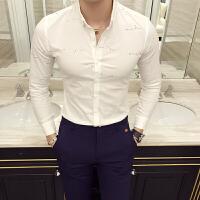 春款新款 时尚英伦修身男士长袖衬衫 衬衣韩版修身长袖衬衫男