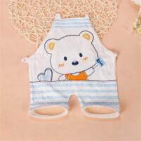 婴儿连脚肚兜纯棉宝宝肚兜连腿薄款新生婴幼儿护肚脐肚围夏装