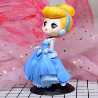 20190701235229188Q版爱丽丝美人鱼白雪公主灰姑娘大号摆件模型礼物烘培玩具