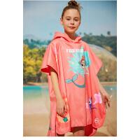 TOSWIM�和�浴巾斗篷��帽卡通速干吸水����男童女童可穿游泳浴袍