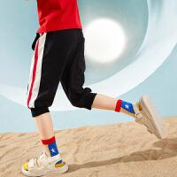 【2件3折:39】巴拉巴拉旗下男童裤子儿童休闲裤2020新款夏装五分运动中裤宽松男