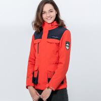 户外冲锋衣男女潮牌三合一加绒加厚可拆卸防风外套冬两件套登山服