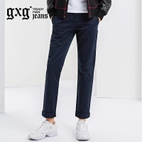 gxg.jeans男装修身潮流藏青时尚休闲长裤#54602282