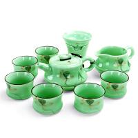 手绘青瓷 龙泉青瓷功夫茶具茶杯茶壶陶瓷茶海茶具套装