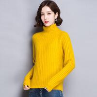 秋冬季韩版半高领羊毛衫套头宽松打底针织衫百搭加厚毛衣女士短款