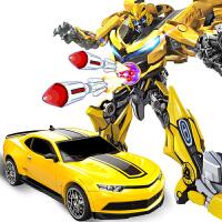 【遥控变形玩具大黄蜂】模型加大汽车机器人男孩儿童玩具