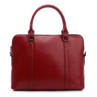 女包电脑手提包苹果华硕小米包大容量商务职业女士时尚公文包真皮