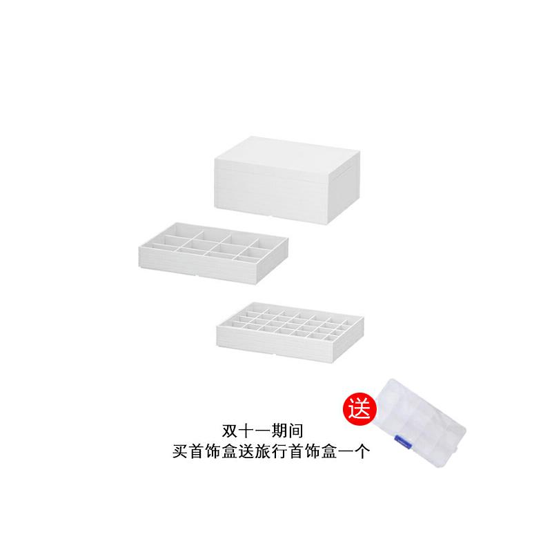 简约耳钉首饰盒公主欧式韩国多层白色大容量戒指收纳盒少女心日系 C款 双层 发货周期:一般在付款后2-90天左右发货,具体发货时间请以与客服协商的时间为准