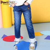 【1件5折 到手价:249】Pawinpaw卡通小熊童装春款女童水洗牛仔裤休闲裤子直筒长裤