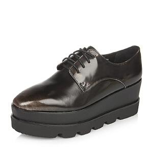 Teenmix/天美意专柜同款金色光面小牛皮革女皮鞋6D928CM6
