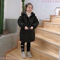 女童棉衣2018新款韩版中大童洋气羽绒儿童冬装中长款棉袄外套 140cm (吊牌140/15码)