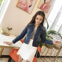 短外套女冬季新款韩版修身修身短款长袖牛仔衣百搭夹克