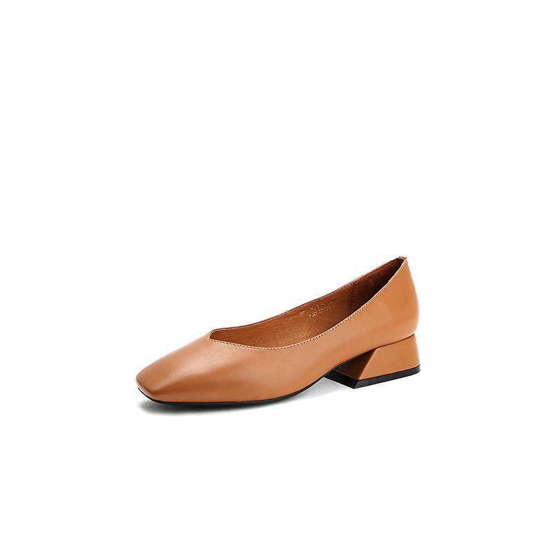 Belle/百丽2017春时尚复古牛皮女单鞋17201AQ7