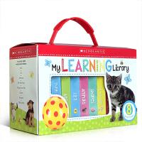 英文原版My Learning Library 8册盒装纸板书 生活百科农场动植物颜色数字认知图画书 幼儿英语启蒙教育