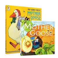 英文原版鹅妈妈童谣2册 My Very First Mother Goose 绘本故事书Sylvia Long's m