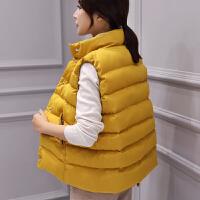棉衣马甲女士外套冬季短韩版新时尚休闲女士百搭棉背心外套女潮