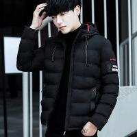 棉衣男士冬季外套2018新款羽绒棉袄男韩版潮短款连帽冬装加厚