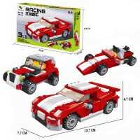 匹配乐高拼装积木飞机汽车三合一模型儿童拼图男孩子小玩具益智力