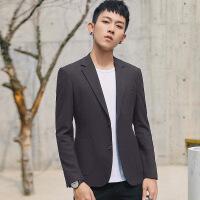 男士休闲西服韩版修身青年上衣帅气潮流商务小西装外套男单件秋季