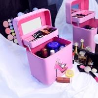 护肤品手提化妆箱多层化妆盒化妆包大容量多功能可爱便携旅行大号