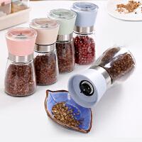 现磨花椒粉玻璃黑胡椒研磨器手动辅食家用调味瓶罐芝麻厨房调料瓶