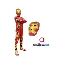 儿童服装钢铁侠蜘蛛侠衣服男女孩超人美国队长套装紧身衣道具套装