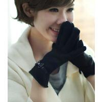 韩版时尚触摸屏可爱加绒保暖羊毛手套女冬