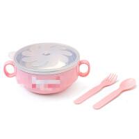 儿童餐具不锈钢吃饭碗叉勺套装婴幼儿辅食碗宝宝保温碗O