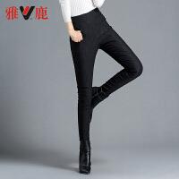 yaloo/雅鹿羽绒裤女新款高腰显瘦加厚保暖裤外穿修身冬白鸭绒