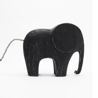 美式家具装饰大象创意家居饰品摆件一对纯手工实木客厅书桌工艺品