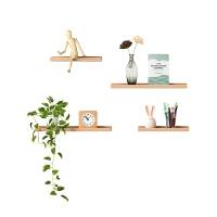 北欧实木客厅置物架房间墙壁挂放娃娃的架子简约创意装饰